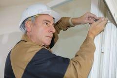 Remontowa elektryczna żaluzja zdjęcia royalty free