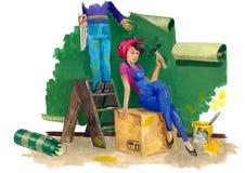 Remontowa praca w domu Ilustracja Wektor