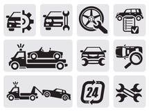 Remontowe samochód ikony Obraz Royalty Free