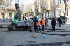 Remontowe ulicy Zdjęcie Stock