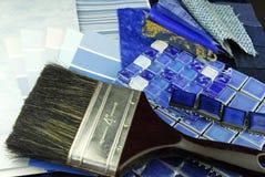 Remontowej dekoraci tapicerowania planistyczna makata Zdjęcia Royalty Free
