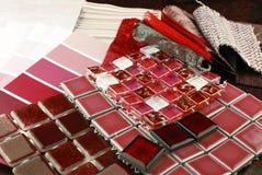 Remontowej dekoraci tapicerowania planistyczna makata zdjęcie stock