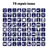 72 remontowej ikony Fotografia Stock