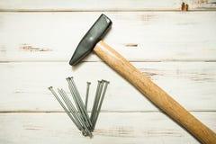 Remontowi cieśli narzędzia: hummer obrazy royalty free