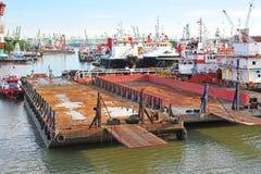 remontowy barka jard Zdjęcie Royalty Free
