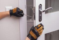 Remontowy drzwiowy kędziorek Fotografia Stock