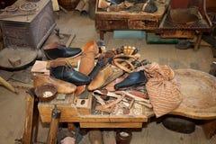 remontowy obuwianego sklepu rocznik Fotografia Royalty Free