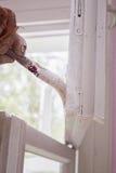 Remontowy okno malować Obraz Royalty Free