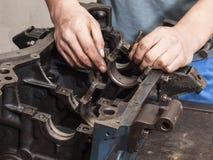 Remontowy samochodowy silnik Zdjęcia Royalty Free