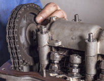 Remontowy samochodowy silnik Obrazy Stock