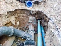 Remontowy system wodny Fotografia Royalty Free