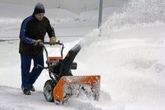 Remoção de neve Fotos de Stock Royalty Free