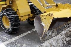 Remoção de neve Imagens de Stock