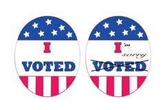 Remordimiento de los votantes Imagen de archivo libre de regalías