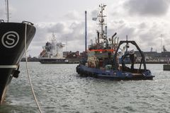 remorquage Thyboron, Jutland, Danemark Images stock