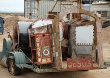 Remorque décorée des messages religieux Photographie stock libre de droits
