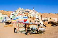Remorque peinte par montagne de salut Photographie stock libre de droits