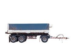 Remorque pour transporter le camion de voitures d'isolement sur le fond blanc Photographie stock libre de droits