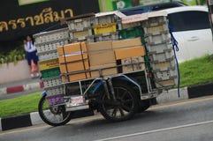 Remorques de moto en Thaïlande image libre de droits