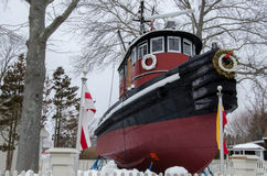 Remorqueur de Kingston II - port maritime mystique, le Connecticut, Etats-Unis Photos libres de droits