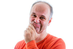 Remorseful middle-aged man Royalty Free Stock Photography
