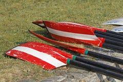 Remos del rowing Imágenes de archivo libres de regalías