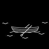 Remos do barco dois do barco Imagem de Stock Royalty Free
