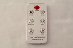 Remote вентилятора на белой предпосылке Стоковая Фотография