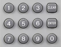remote кнопочной панели управления Стоковое Изображение