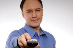 remote человека используя Стоковые Изображения RF