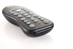 Remote 1. Tv remote with reflection on white background Royalty Free Stock Images