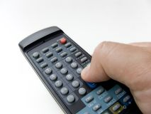 Remote. In hand on white background Royalty Free Stock Photos