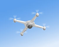 Remote air drone with camera Stock Image
