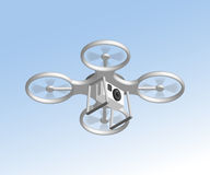 Remote air drone with camera. Isomertic view Stock Images