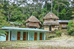 Remote Amazon Jungle Lodging Royalty Free Stock Photography