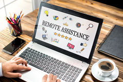Remote Assistance Concept On Laptop Monitor Royalty Free Stock Photo