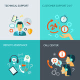 Remote Assistance And Technical Support Banners Royalty Free Stock Images