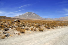 Remote, Barren volcanic landscape of the Atacama Desert, Chile. South America stock image
