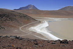 Remote, Barren volcanic landscape of the Atacama Desert, Chile Stock Image
