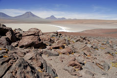 Remote, Barren volcanic landscape of the Atacama Desert, Chile Royalty Free Stock Image