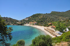 Remote bay on greek island Samos Stock Photos