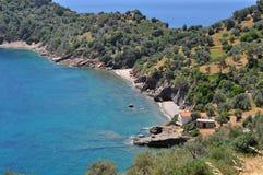 Remote bay on greek island Samos Royalty Free Stock Photo