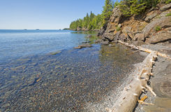Remote Bay in the North Woods Stock Image