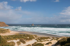 Remote  bay. On South Island of New Zealand Royalty Free Stock Images