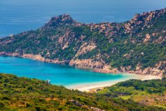 Remote Beach in Corsica Stock Photography
