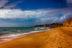 Remote beach royalty free stock photo