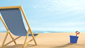 Remote Beach Relaxation Royalty Free Stock Images