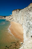 Remote beach at Scala dei Turchi Royalty Free Stock Photography