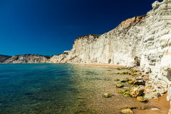 Remote beach of Scala dei Turchi Royalty Free Stock Image