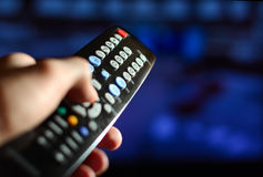 The remote board from the TV Stock Photos